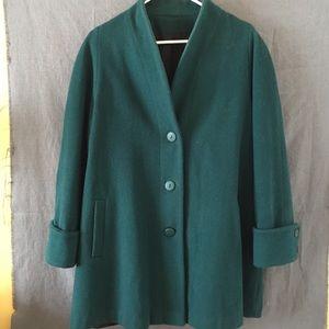 Vintage oversized dark green jacket with pockets